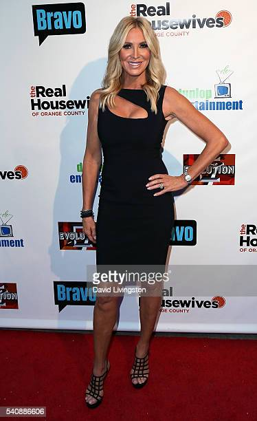 TV personality Lauri Peterson attends the premiere party for Bravo's 'The Real Housewives of Orange County' 10 Year Celebration at Boulevard3 on June...