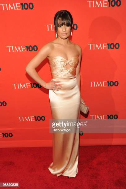 Personality Lea Michele attends Time's 100 most influential people in the world gala at Frederick P Rose Hall Jazz at Lincoln Center on May 4 2010 in...