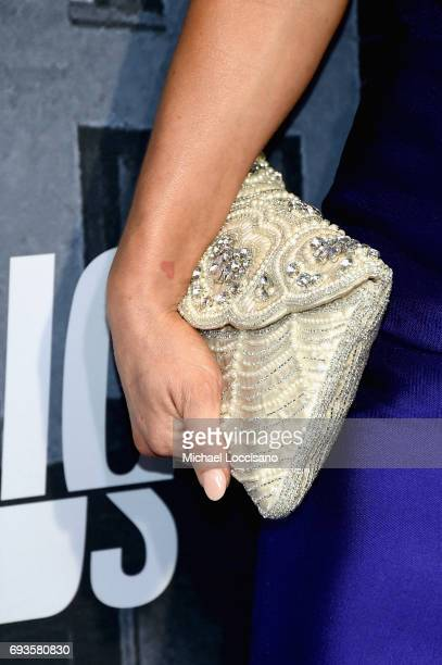 TV personality Leah Messer clutch detail attends the 2017 CMT Music Awards at the Music City Center on June 7 2017 in Nashville Tennessee