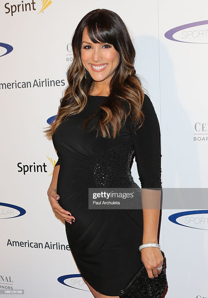 TV Personality Leeann Tweeden (Baby Bump Detail) attends the 28th Annual Sports Spectacular Anniversary Gala at the Hyatt Regency Century Plaza on May 19, 2013 in Century City, California.