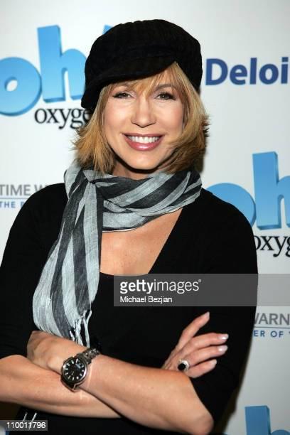 TV personality Leeza Gibbons arrives at The Oxygen Mentors Walk at Santa Monica Beach on October 5 2007 in Santa Monica California