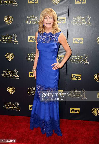 TV personality Leeza Gibbons attends The 42nd Annual Daytime Emmy Awards at Warner Bros Studios on April 26 2015 in Burbank California