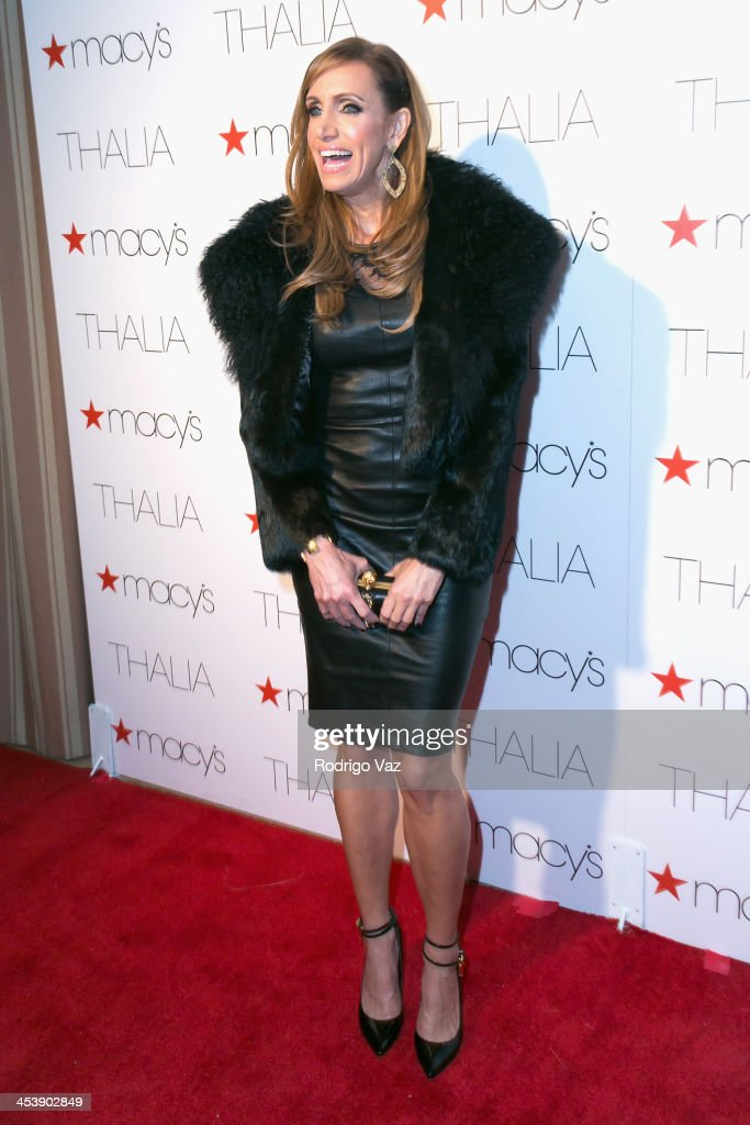 TV personality <a gi-track='captionPersonalityLinkClicked' href=/galleries/search?phrase=Lili+Estefan&family=editorial&specificpeople=751373 ng-click='$event.stopPropagation()'>Lili Estefan</a> attends as Macy's honors Latin superstar Thalia at Sunset Tower on December 5, 2013 in West Hollywood, California.