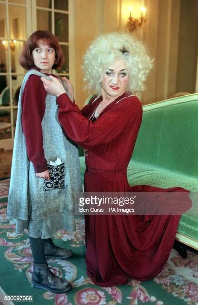 TV Personality Lily Savage and Tasha Gold during a photocall in London's Hyde Park Hotel this morning where it was announced that Savage is to play...