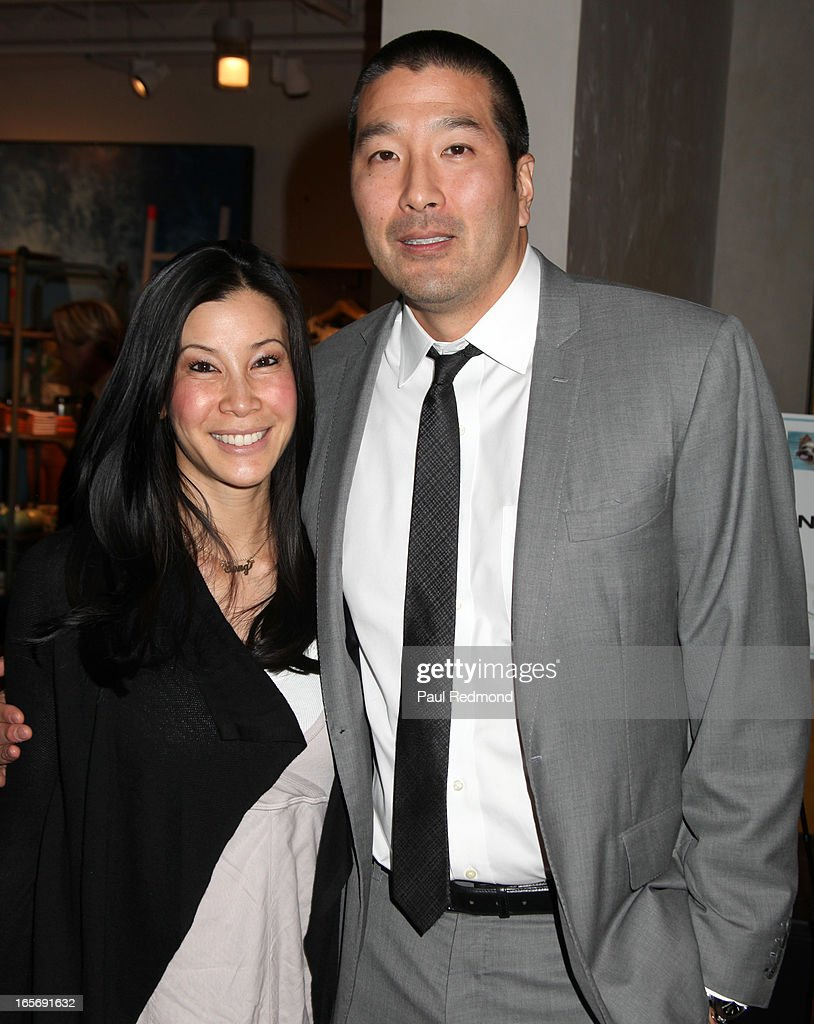 TV personality <a gi-track='captionPersonalityLinkClicked' href=/galleries/search?phrase=Lisa+Ling&family=editorial&specificpeople=240577 ng-click='$event.stopPropagation()'>Lisa Ling</a> and her husband, Dr. Paul Song attend 'A Letter To My Dog: Notes To Our Best Friends' cocktail party and book signing at Anthropologie on April 4, 2013 in Beverly Hills, California.