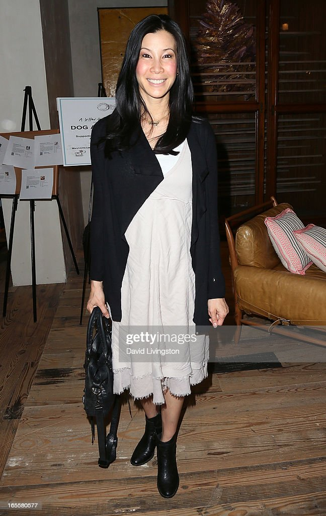 TV personality Lisa Ling attends a cocktail party and book signing for 'A Letter to My Dog: Notes to Our Best Friends' at Anthropologie on April 4, 2013 in Beverly Hills, California.