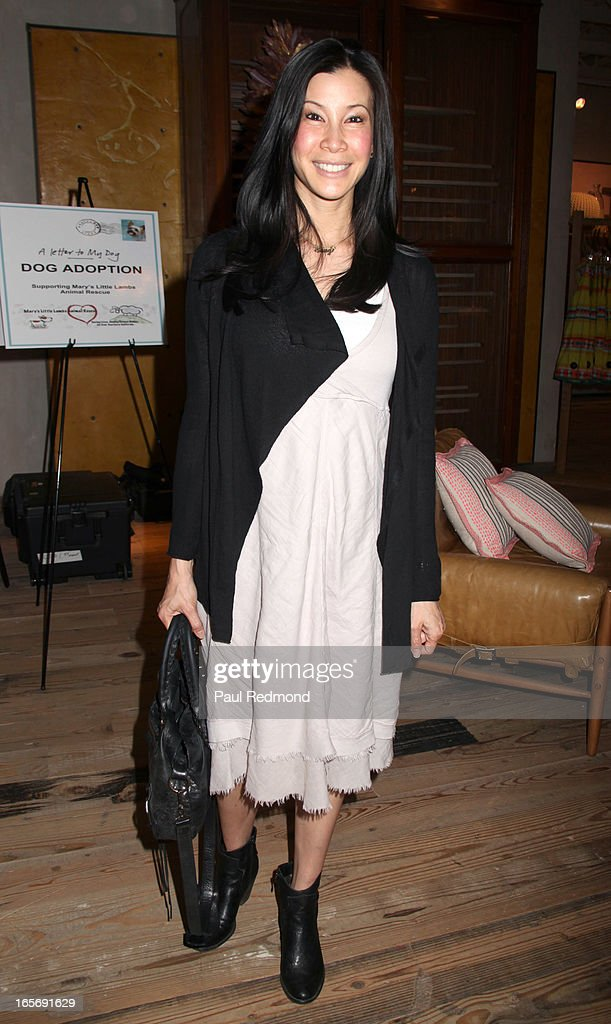 TV personality Lisa Ling attends 'A Letter To My Dog: Notes To Our Best Friends' cocktail party and book signing at Anthropologie on April 4, 2013 in Beverly Hills, California.