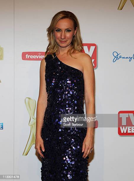 TV personality Lisa McCune poses in the media room during the 2011 Logie Awards at Crown Palladium on May 1 2011 in Melbourne Australia