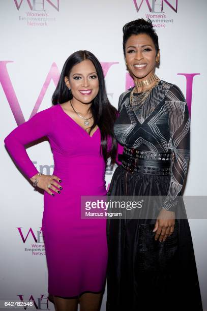 TV personality Lisa Nicole Cloud and Dr Sonja Stribling attend the 2017 WEN VIP Day And Power Brunch at The Westin Peachtree Plaza Hotel on February...