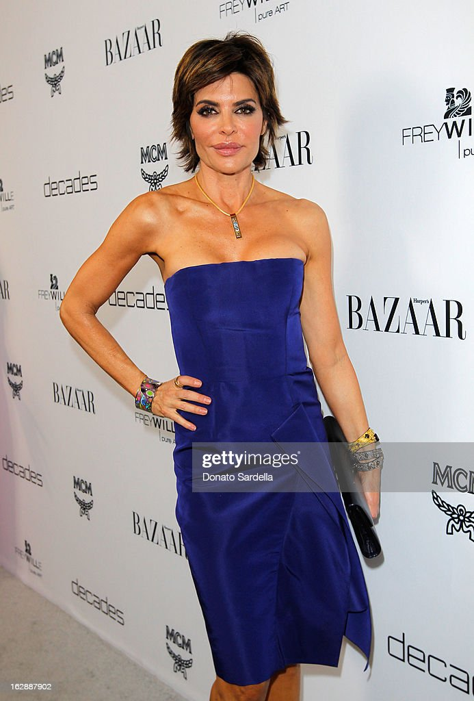 TV personality Lisa Rinna attends the Dukes Of Melrose launch hosted by Decades, Harper's BAZAAR, and MCM on February 28, 2013 in Los Angeles, California.