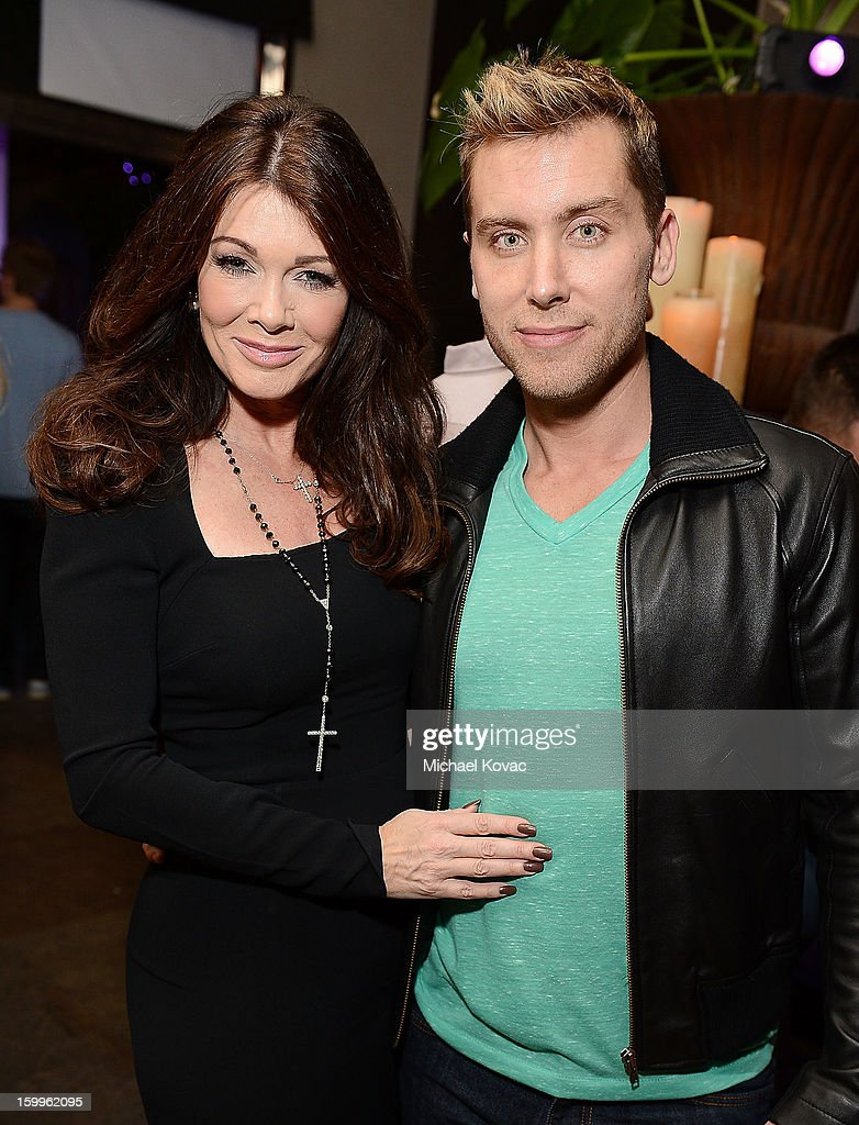 TV personality <a gi-track='captionPersonalityLinkClicked' href=/galleries/search?phrase=Lisa+Vanderpump&family=editorial&specificpeople=6834933 ng-click='$event.stopPropagation()'>Lisa Vanderpump</a> (L) and actor <a gi-track='captionPersonalityLinkClicked' href=/galleries/search?phrase=Lance+Bass&family=editorial&specificpeople=210566 ng-click='$event.stopPropagation()'>Lance Bass</a> attend Celebrities and the EMA Help Green Works Launch New Campaign at Sur Restaurant on January 23, 2013 in Los Angeles, California.