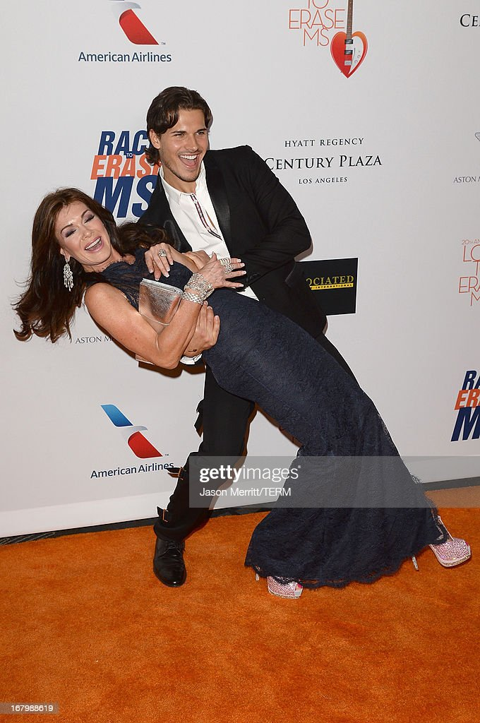 TV personality Lisa Vanderpump (L) and dancer Gleb Savchenko attend the 20th Annual Race To Erase MS Gala 'Love To Erase MS' at the Hyatt Regency Century Plaza on May 3, 2013 in Century City, California.