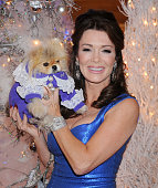 TV personality Lisa Vanderpump and dog Giggy attend the Inaugural 'Holiday Pet Portraits' at The Beverly Center on November 14 2013 in Los Angeles...