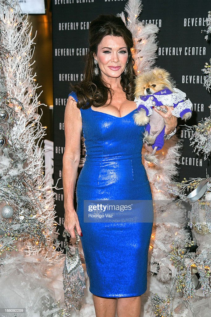 TV personality <a gi-track='captionPersonalityLinkClicked' href=/galleries/search?phrase=Lisa+Vanderpump&family=editorial&specificpeople=6834933 ng-click='$event.stopPropagation()'>Lisa Vanderpump</a> and Giggy the Pom attend as The Beverly Center kicks off 'Holiday Pet Portraits With Santa!' at The Beverly Center on November 14, 2013 in Los Angeles, California.