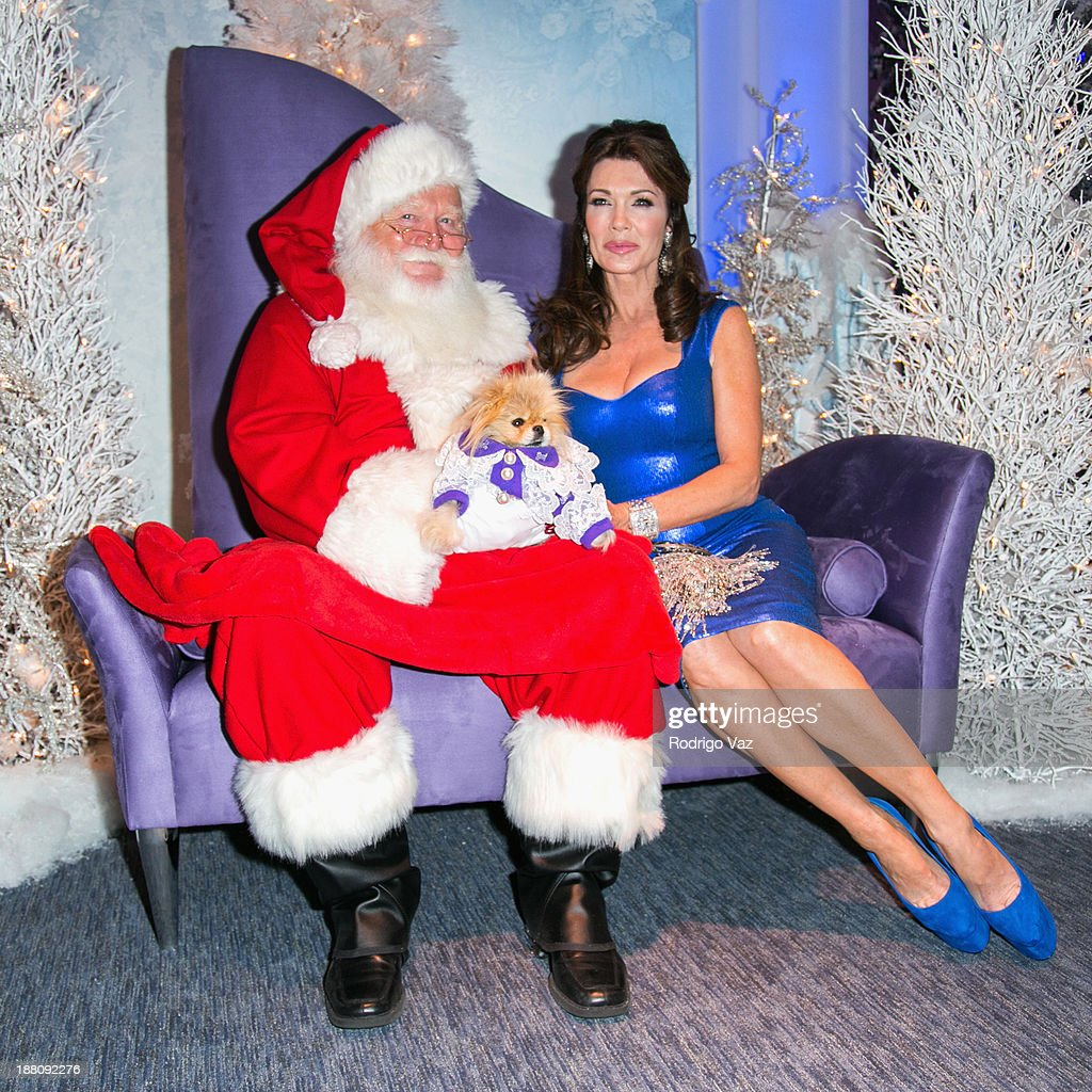 TV personality Lisa Vanderpump and Giggy the Pom attend as The Beverly Center kicks off 'Holiday Pet Portraits With Santa!' at The Beverly Center on November 14, 2013 in Los Angeles, California.