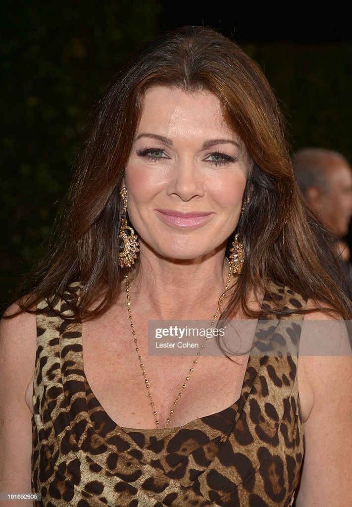 TV personality Lisa Vanderpump arrives at the Topshop Topman LA Opening Party at Cecconi's West Hollywood on February 13, 2013 in Los Angeles, California.