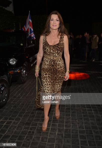 TV personality Lisa Vanderpump arrives at the Topshop Topman LA Opening Party at Cecconi's West Hollywood on February 13 2013 in Los Angeles...