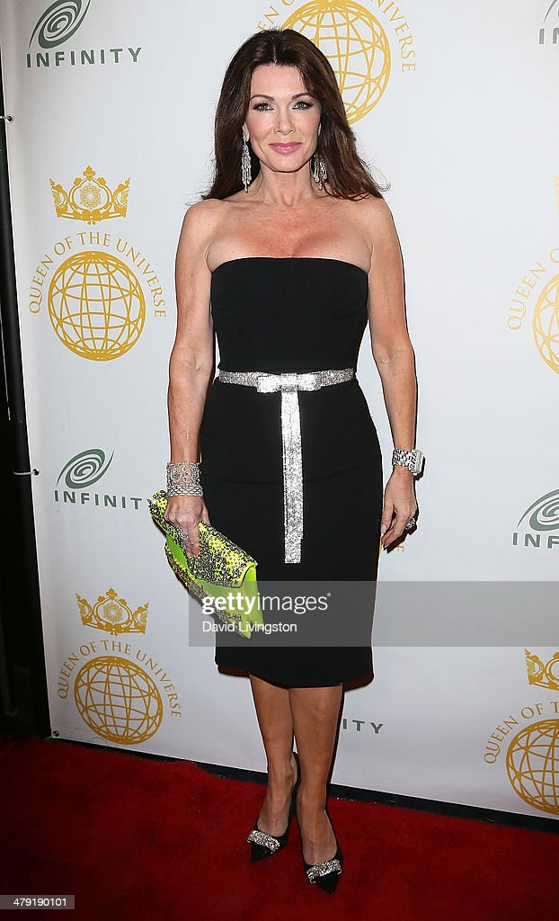 TV personality <a gi-track='captionPersonalityLinkClicked' href=/galleries/search?phrase=Lisa+Vanderpump&family=editorial&specificpeople=6834933 ng-click='$event.stopPropagation()'>Lisa Vanderpump</a> attends the Queen of the Universe International Beauty Pageant at the Saban Theatre on March 16, 2014 in Beverly Hills, California.
