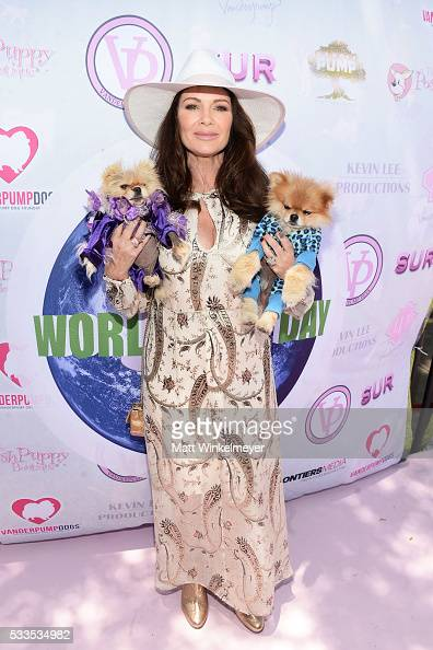TV personality Lisa Vanderpump attends the World Dog Day Celebration at The City of West Hollywood Park on May 22 2016 in West Hollywood California