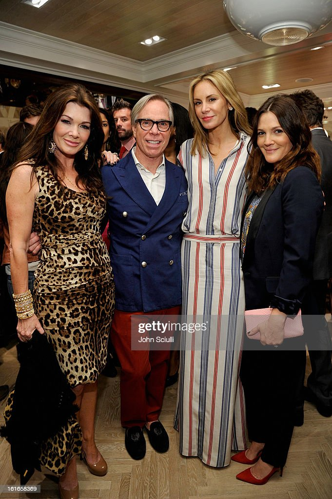 TV Personality Lisa Vanderpump, fashion designer, Tommy Hilfiger, Dee Hilfiger, and actress Drew Barrymore attend Tommy Hilfiger New West Coast Flagship Opening on Robertson Boulevard on February 13, 2013 in West Hollywood, California.