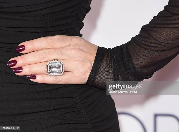 TV personality Lisa Vanderpump fashion detail attends the People's Choice Awards 2016 at Microsoft Theater on January 6 2016 in Los Angeles California