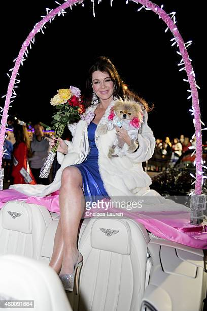 TV personality Lisa Vanderpump serves as Grand Marshall of Palm Springs Festival Of Lights Parade wearing a diamond encrusted Marc Bouwer faux fur on...