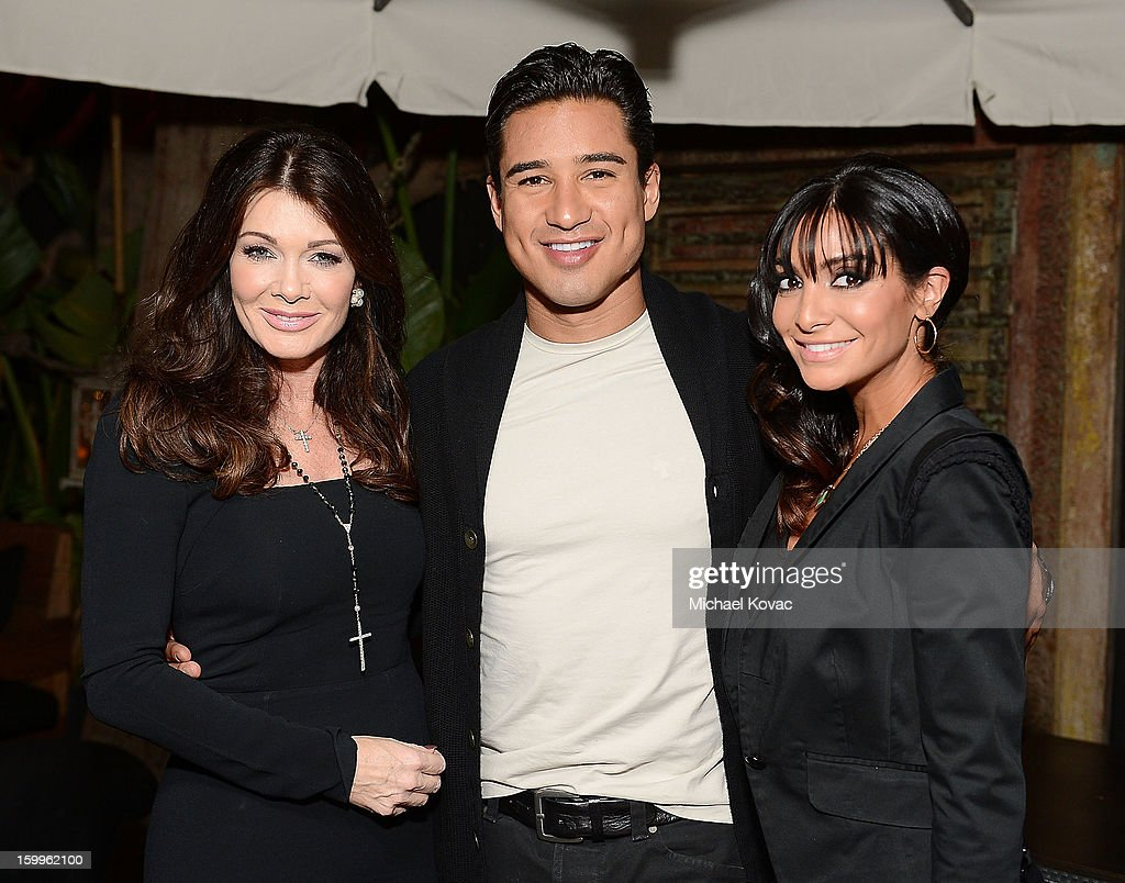 TV personality <a gi-track='captionPersonalityLinkClicked' href=/galleries/search?phrase=Lisa+Vanderpump&family=editorial&specificpeople=6834933 ng-click='$event.stopPropagation()'>Lisa Vanderpump</a>, TV host <a gi-track='captionPersonalityLinkClicked' href=/galleries/search?phrase=Mario+Lopez&family=editorial&specificpeople=235992 ng-click='$event.stopPropagation()'>Mario Lopez</a>, and <a gi-track='captionPersonalityLinkClicked' href=/galleries/search?phrase=Courtney+Mazza&family=editorial&specificpeople=5650960 ng-click='$event.stopPropagation()'>Courtney Mazza</a> attend Celebrities and the EMA Help Green Works Launch New Campaign at Sur Restaurant on January 23, 2013 in Los Angeles, California.