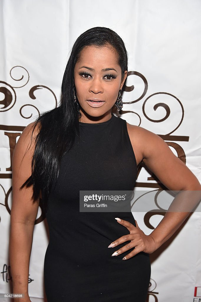 TV personality Lisa Wu attends 'Skinned' Atlanta screening at Prince Place Cigar Bar and Bistro on January 9 2016 in Atlanta Georgia