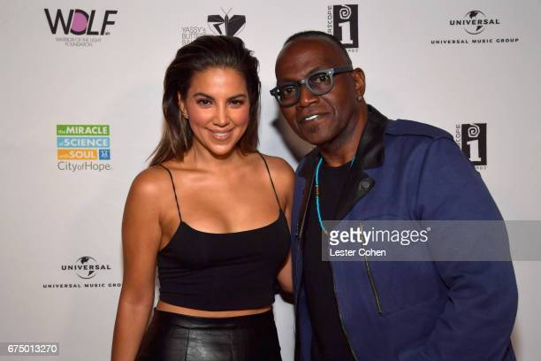 TV personality Liz Hernandez and Randy Jackson attend Yassy's Butterfly Ball on April 29 2017 in West Hollywood California