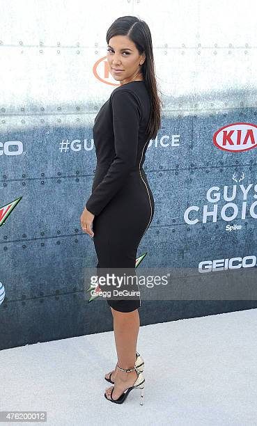 TV personality Liz Hernandez arrives at Spike TV's 'Guys Choice 2015' at Sony Pictures Studios on June 6 2015 in Culver City California