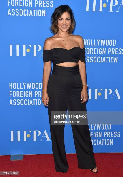 TV personality Liz Hernandez arrives at the Hollywood Foreign Press Association's Grants Banquet at the Beverly Wilshire Four Seasons Hotel on August...
