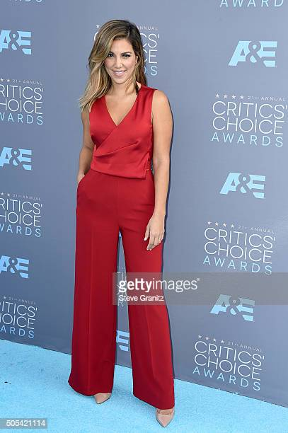 TV personality Liz Hernandez attends the 21st Annual Critics' Choice Awards at Barker Hangar on January 17 2016 in Santa Monica California