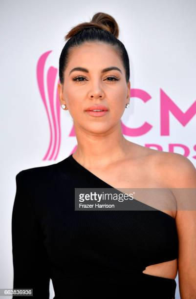 TV personality Liz Hernandez attends the 52nd Academy Of Country Music Awards at Toshiba Plaza on April 2 2017 in Las Vegas Nevada