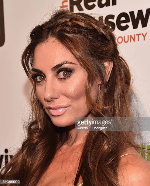 TV personality Lizzie Rovsek attends the premiere party for Bravo's 'The Real Housewives of Orange County' 10 year celebration at Boulevard3 on June...