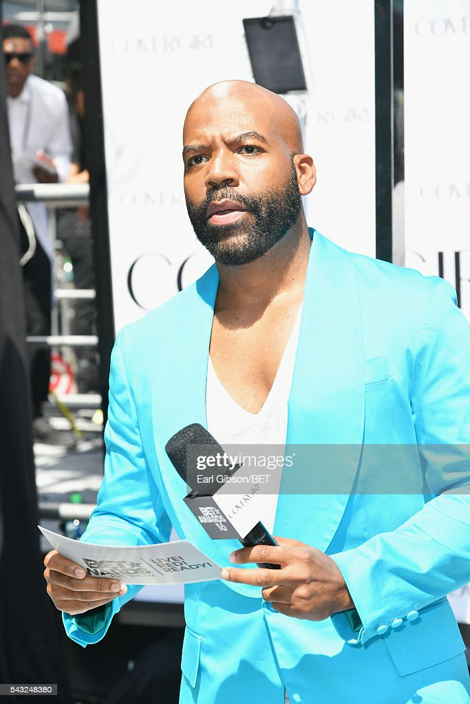 TV personality <a gi-track='captionPersonalityLinkClicked' href=/galleries/search?phrase=Lloyd+Boston&family=editorial&specificpeople=451537 ng-click='$event.stopPropagation()'>Lloyd Boston</a> attends the Cover Girl glam stage during the 2016 BET Awards at the Microsoft Theater on June 26, 2016 in Los Angeles, California.