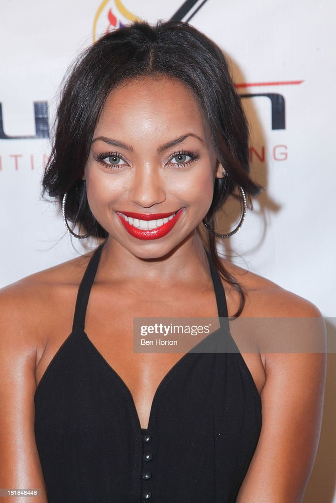 TV personality <a gi-track='captionPersonalityLinkClicked' href=/galleries/search?phrase=Logan+Browning&family=editorial&specificpeople=4428135 ng-click='$event.stopPropagation()'>Logan Browning</a> attends the Guggenheim partners present: The Justice Ball at Boulevard3 on September 24, 2013 in Hollywood, California.