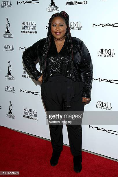 TV personality Loni Love arrives at the MakeUp Artists and Hair Stylists Guild Awards at Paramount Studios on February 20 2016 in Hollywood California