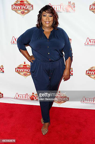 TV personality Loni Love attends the premiere of 'Annie' at the Hollywood Pantages Theatre on October 13 2015 in Hollywood California