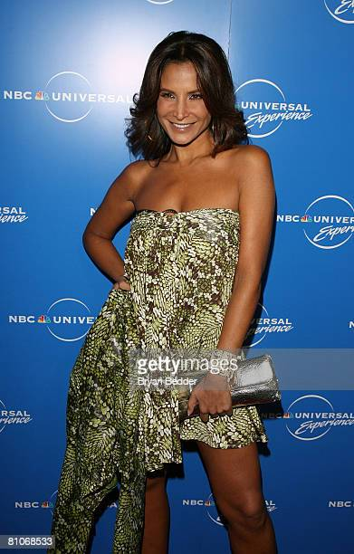 TV personality Lorena Rojas arrives for the NBC Universal Experience at Rockefeller Center as part of upfront week on May 12 2008 in New York City