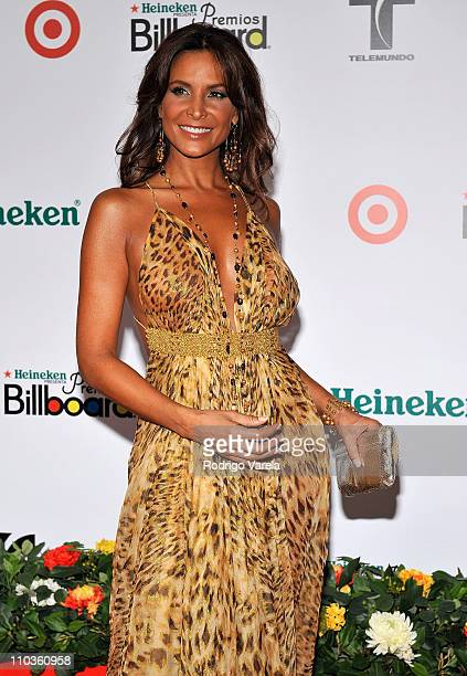 TV personality Lorena Rojas attends the 2008 Billboard Latin Music Awards at the Seminole Hard Rock Hotel and Casino on April 10 2008 in Hollywood...