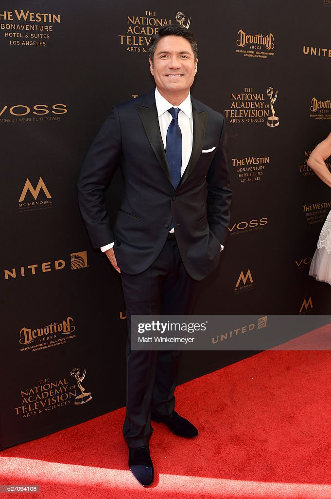TV personality Louis Aguirre walks the red carpet at the 43rd Annual Daytime Emmy Awards at the Westin Bonaventure Hotel on May 1, 2016 in Los Angeles, California.