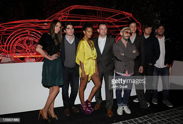 TV personality Louise Roe actor Miles Fisher singer Solange Knowles Land Rover's Vice President of Marketing in North America Finbar McFall musicians...