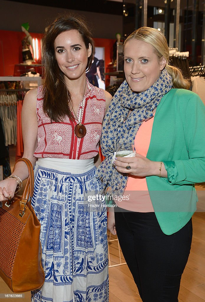 TV personality Louise Roe (L) and Kirsty Williams attend BAFTA Los Angeles and Sir Philip Green Celebrate the British New Wave at Topshop Topman at The Grove on April 30, 2013 in Los Angeles, California.