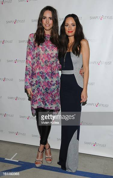 TV personality Louise Roe and TV personality Catt Sadler attend Simply Stylist 2nd Annual Los Angeles Fashion And Beauty Event at Siren Studios on...