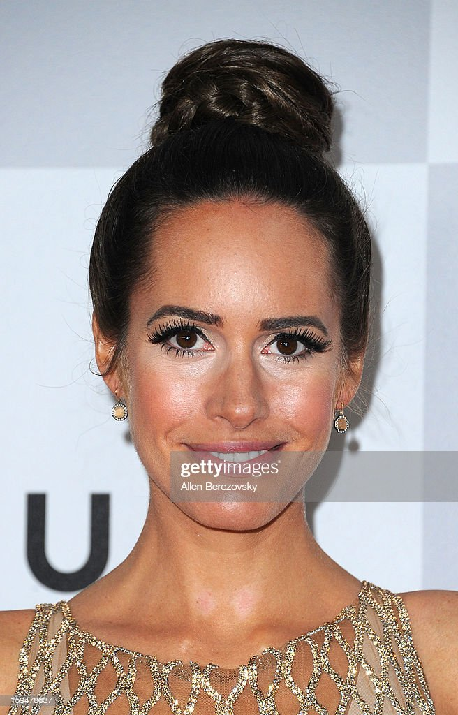 TV personality Louise Roe arrives at the NBC Universal's 70th annual Golden Globe Awards after party on January 13, 2013 in Beverly Hills, California.