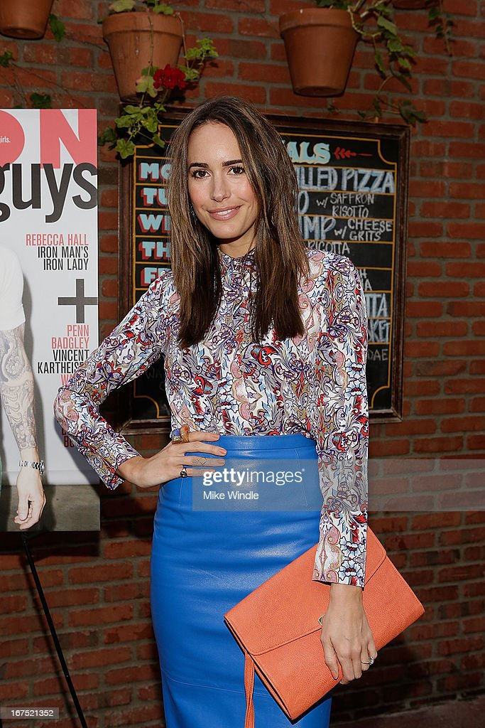 TV Personality Louise Roe attends NYLON Guys and ASOS celebrate April/May cover star Adam Levine at Dominick's Restaurant on April 25, 2013 in Los Angeles, California.