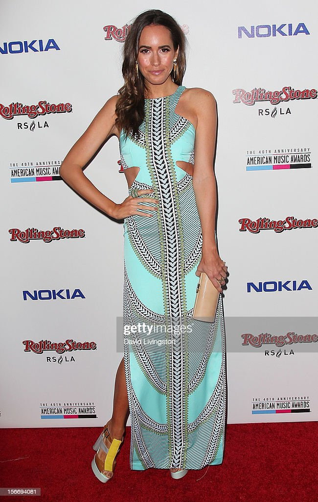 TV personality Louise Roe attends Rolling Stone Magazine's 2012 American Music Awards (AMAs) VIP After Party presented by Nokia and Rdio at the Rolling Stone Restaurant and Lounge on November 18, 2012 in Los Angeles, California.