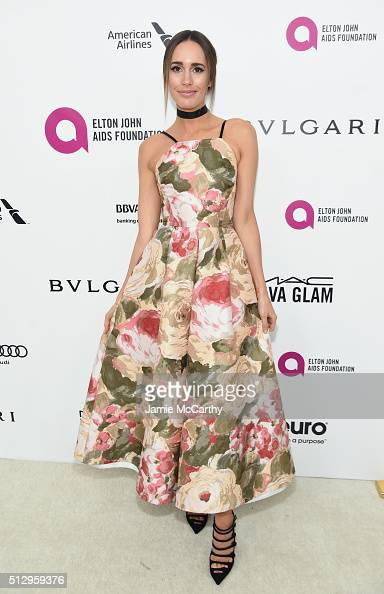 TV personality Louise Roe attends the 24th Annual Elton John AIDS Foundation's Oscar Viewing Party at The City of West Hollywood Park on February 28...