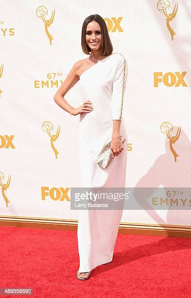TV personality Louise Roe attends the 67th Annual Primetime Emmy Awards at Microsoft Theater on September 20 2015 in Los Angeles California