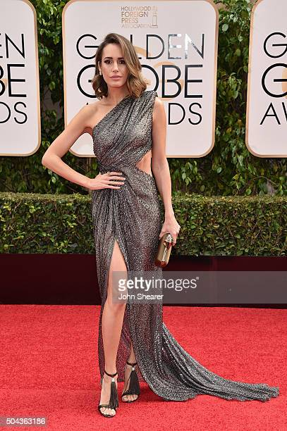 TV personality Louise Roe attends the 73rd Annual Golden Globe Awards held at the Beverly Hilton Hotel on January 10 2016 in Beverly Hills California